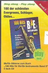 100 Hits für B- und Es-Instrumente Band 2 5 Playback-CD's, 999475364