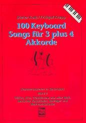 100 Keyboardsongs für 3 plus 4 Akkorde, Band 2  (rot)