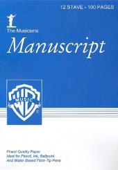 12 stave 100 pages DIN A 4 manuscript paper
