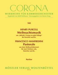 2 Weihnachtsmusiken für Streicher, (2 Violinen solo) und Bc, Partitur