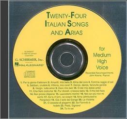 24 italian Songs and Arias CD for medium high voice (piano accom-, paniments)