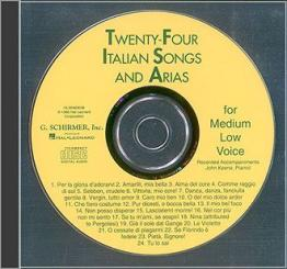 24 Italian Songs and Arias CD For medium low voice, (piano accompaniment)