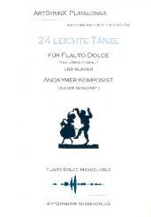 24 leichte Tänze für Flauto dolce und Bc (+CD)