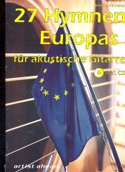 27 Hymnen Europas (+CD) für akustische Gitarre