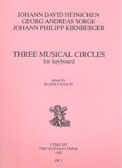 3 musical Circles for keyboard
