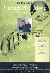 3 Tempi Play Along CD Album 2 (easy) Konzertversion (Posaune/Klavier), plus Klavierbegleitung in 3 Tempi