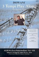 3 Tempi play along  vol.8 CD  für Flöte und Klavier, Klavierbegleitung in 3 tempi