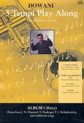 3 Tempi playalong 2 CD's: Album 1 leichte Konzertversion für Trompete und Klavier