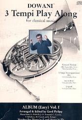 3 Tempi Playalong CD Album 1 (easy) Konzertversion (Horn/Klavier), und Klavierbegleitung in 3 Tempi
