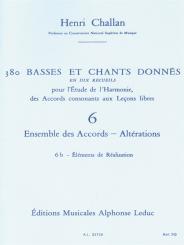 380 basses et chants donnés vol.6b vol.06:ensemble des accords - altérations, éléments de réalisation