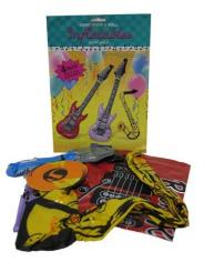 4 Inflantables Instruments 2 guitars, saxophone and microphone, for decoration