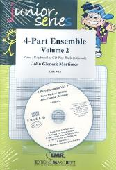 4-Part Ensemble vol.2 (+CD) for 4 parts ensemble and keyboard, (or with Playback),  score and parts