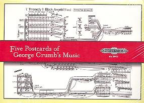5 Postcards of George Crumb's Music