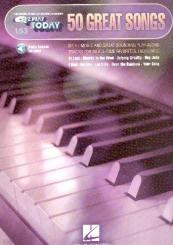 50 great Songs (+Online Audio Access): for keyboard (organ/piano), EZ play today vol.153