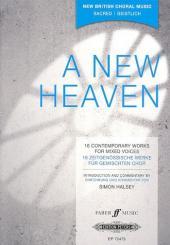 A new Heaven für gem Chor (z.T. mit Instrumenten), Klavierauszug