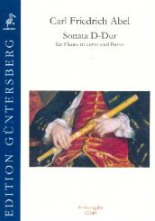 Abel, Karl Friedrich: Sonate D-Dur für Traversflöte und Bc, Partitur und Stimmen (Bc ausgesetzt)