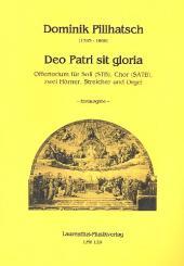 Abert, Johann Josef: Deo Patri sit gloria für Soli, gem Chor, 2 Hörner, Streicher und Orgel, Partitur