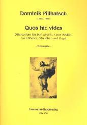 Abert, Johann Josef: Quos hic vides für Soli, gem Chor, 2 Hörner, Streicher und Orgel, Partitur