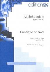 Adam, Adolphe Charles: Cantique de Noel für gem Chor und Klavier, Partitur (fr)