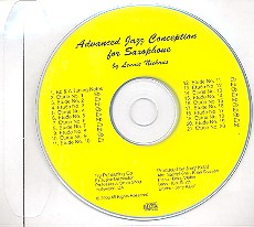 Advanced Jazz Conception for saxophone CD