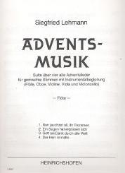 Adventsmusik für gem Chor, Flöte, Oboe, Violine, Viola und Violoncello, Instrumentalstimmen