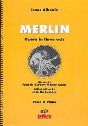 Albéniz, Isaac Manuel: Merlin vocal score (en)