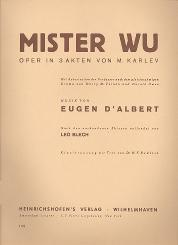 Albert, Eugen d': Mister Wu Klavierauszug