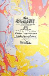 Albert, Heinrich: Arien und Lieder Band 1 Faksimile