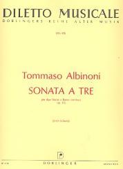 Albinoni, Tomaso: Sonata à tre a-Moll op.1,6 für 2 Violinen und Bc, Partitur und 3 Stimmen