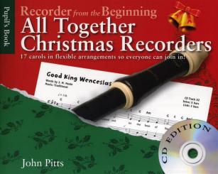 All together Christmas Recorders (+CD) for 1-3 recorders (piano ad lib), score