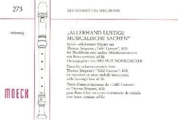 Allerhand lustige musicalische Sachen für 3 Blockflöten (SSA) und Bc ad lib., Spielpartitur