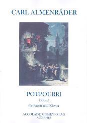 Almenräder, Carl: Potpourri op.3 für Fagott und Klavier