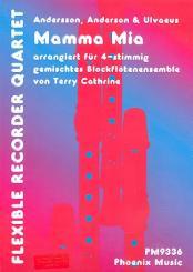 Andersson, Benny: Mamma Mia für 4 Blockflöten, Partitur und Stimmen