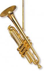 Anhänger Trompete Christbaumschmuck 11,4 cm, (Verpackungseinheit 6 Stück)