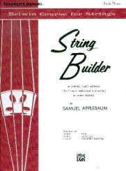 Applebaum, Samuel: String Builder vol.3 Teacher's manual