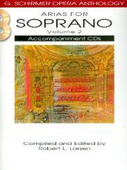 Arias for Soprano vol.2 for soprano and piano, 2 CD's (piano accompaniment)