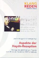 Aspekte der Haydn-Rezeption Beiträge der gleichnamigen Tagung 2009