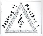 Aufkleber ... Achtung Musiker (Set mit 10 Stk)