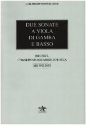 Bach, Carl Philipp Emanuel: 2 Sonaten Wq136 und Wq137 für Viola da gamba und Bc, Faksimile