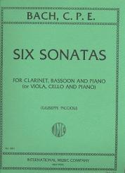 Bach, Carl Philipp Emanuel: 6 Sonatas for clarinet, bassoon and piano (viola, cello, piano)