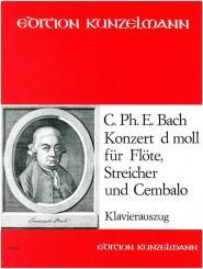 Bach, Carl Philipp Emanuel: Concert d-Moll für Flöte und Orchester für Flöte und Klavier