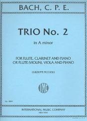 Bach, Carl Philipp Emanuel: Trio a minor no.2 for flute, clarinet and piano, (or violin, viola and piano)