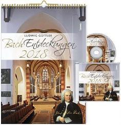 Bach Entdeckungen 2018 (+CD) Monatskalender 30x42cm