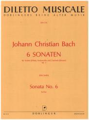 Bach, Johann Christian: Sonate es-dur op.2,6 für Violine, Violoncello und Cembalo, Partitur und Stimmen