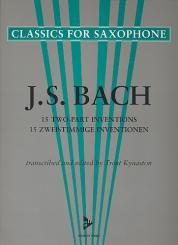 Bach, Johann Sebastian: 15 zweistimmige Inventionen für 2 Saxophone gleicher Stimmung