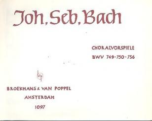 Bach, Johann Sebastian: 3 Choralvorspiele für Orgel