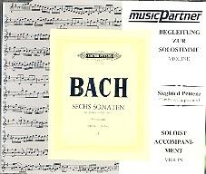 Bach, Johann Sebastian: 6 Sonaten Band 2 BWV1017-1019 CD mit der Begleitung zur Solovioline
