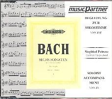 Bach, Johann Sebastian: 6 Sonaten vol.1 (BWV1014-1016) für Violine und Cembalo CD mit der Begleitung zur Solostimme