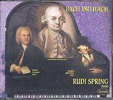 Bach, Johann Sebastian: Bach Dreifach 3 CD's mit Klaviermusik von J.S. Bach, C.P.E. Bach und  W.F. Bach