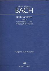 Bach, Johann Sebastian: Bach for Brass Band 5 Hörnerpartien in Stimmenpartitur, z.T. mit Pauken